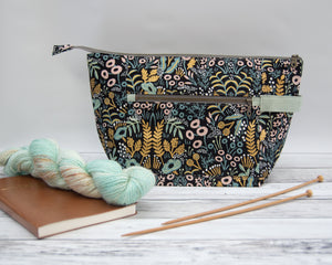 Woodsy and Wild Birch Bag- Tapestry Rifle Paper Company Canvas Knitting Project Bag