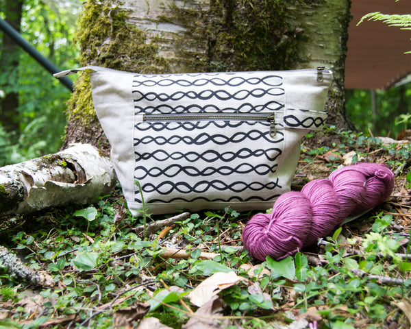 Woodsy and Wild Birch Bag- Squam Magic Edition Zippered Knitting Project Bag