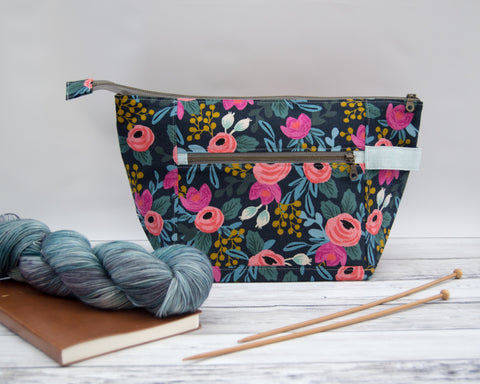 Woodsy and Wild Birch Bag- Rosa Rifle Paper Company Canvas Knitting Project Bag