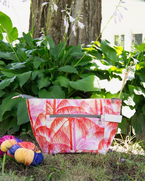 Woodsy and Wild Birch Bag- Summer Collection Zippered Knitting Project Bag