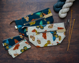 Woodsy and Wild Birch Bag- Monarchs Rifle Paper Company Canvas Knitting Project Bag