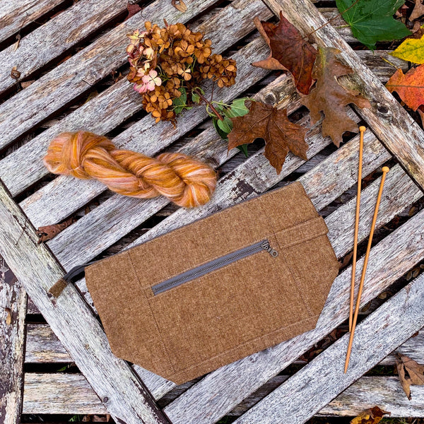 Woodsy and Wild Birch Bag- Autumn Collection Zippered Knitting Project Bag