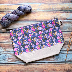 Pansies Project Bag