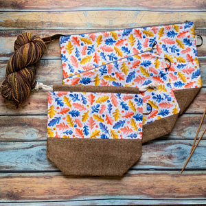 Oak Leaf Project Bag