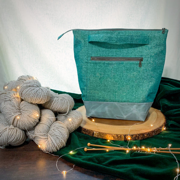 *NEW* Woodsy and Wild Aspen Bag- Holiday Collection Zippered Knitting Project Bag