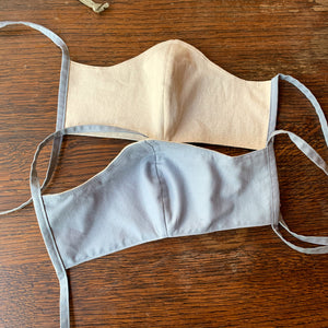 Handmade Facemask- Natural Linen