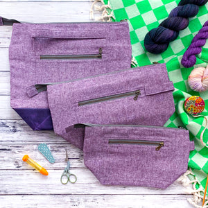 Bag of the Week- *Summer Linens-Blackberry Crumble*  Zippered Knitting Project Bag