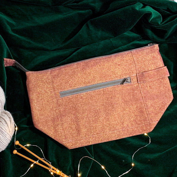 Woodsy and Wild Birch Bag- Holiday Collection Zippered Knitting Project Bag