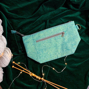 Woodsy and Wild Sapling Bag- Holiday Collection Zippered Knitting Project Bag