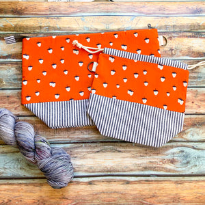 Strawberry Stripes Project Bag