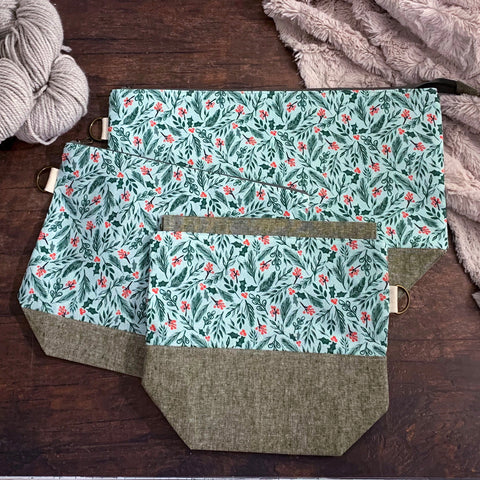 Evergreen Sprigs Project Bag