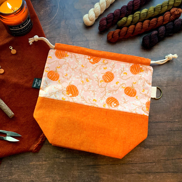 Pumpkin Vines Project Bag