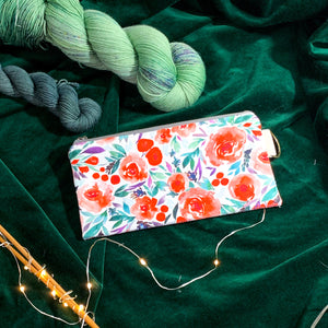Woodsy and Wild Notions Wallet- Holiday Collection Zippered Knitting Notions Bag
