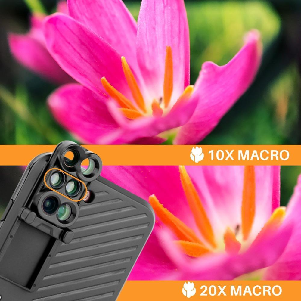 PerfectShot PRO - 6 in 1 Professional Lens Kit Phone Case - DealsMart Online