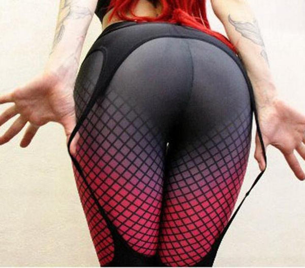 Cherry Bomb Gartered Sports Leggings - DealsMart Online