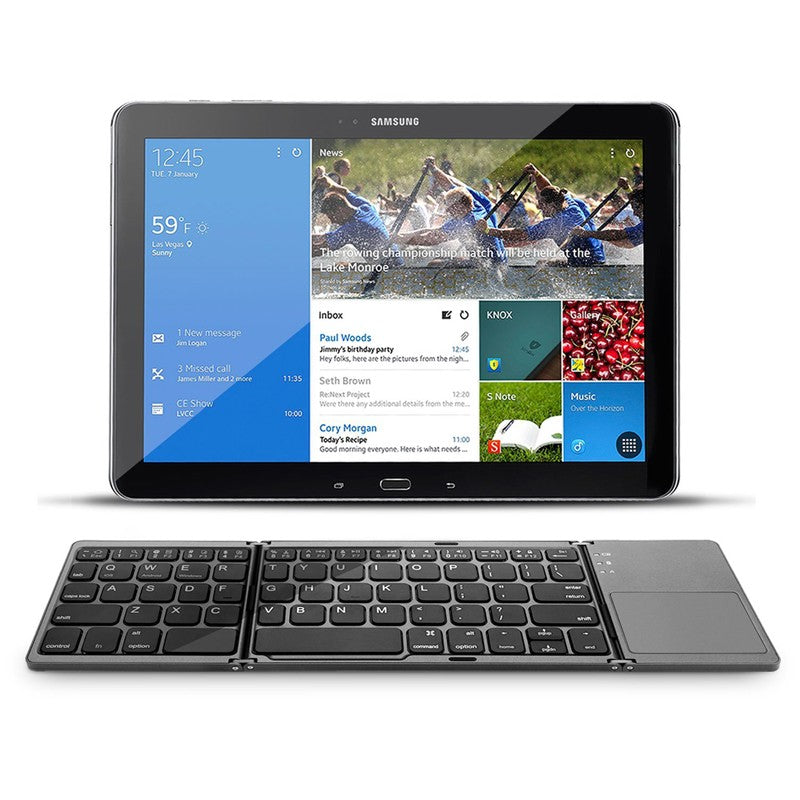 TravelKeys - Ultra-Portable Folding Bluetooth Keyboard w/ Touchpad - DealsMart Online