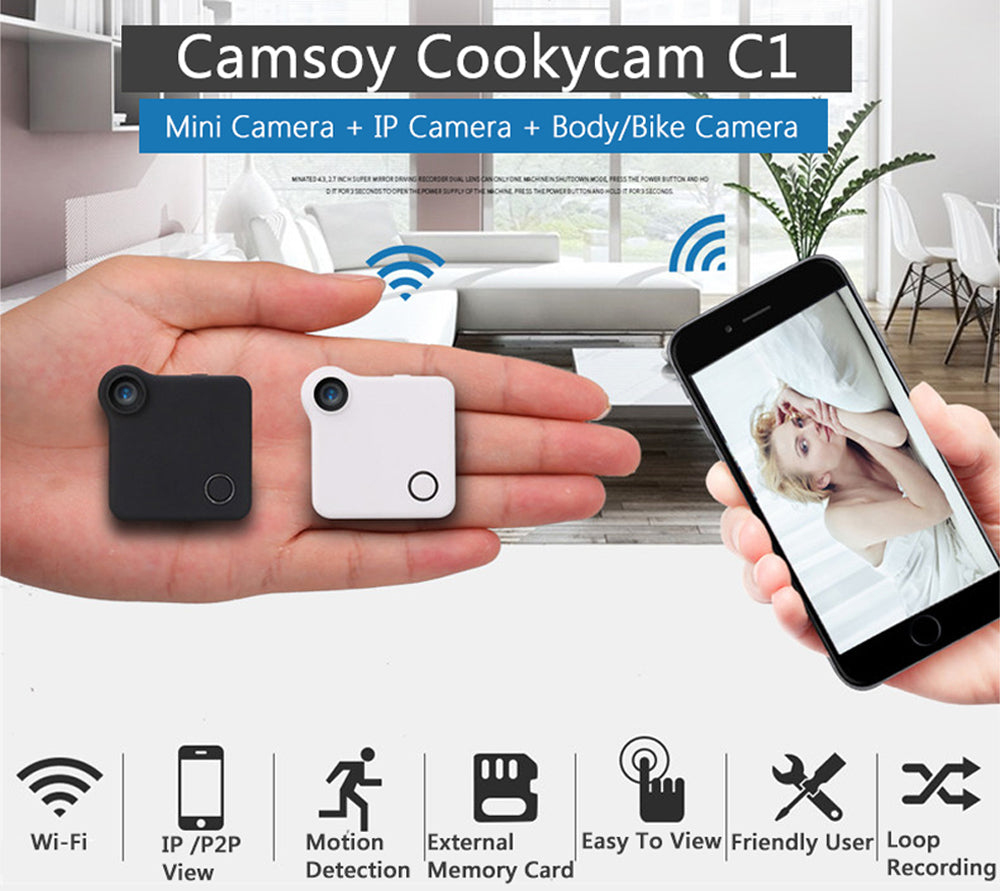 CookyCam - Ultra Portable Clip On IP Camera - DealsMart Online