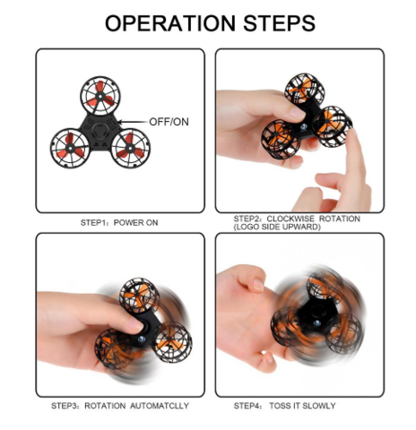 GlideSpinner - High-Performance Flying Fidget Spinner - DealsMart Online