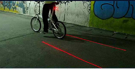SafetyLight - Bike Laser Distance Indicator Light - DealsMart Online