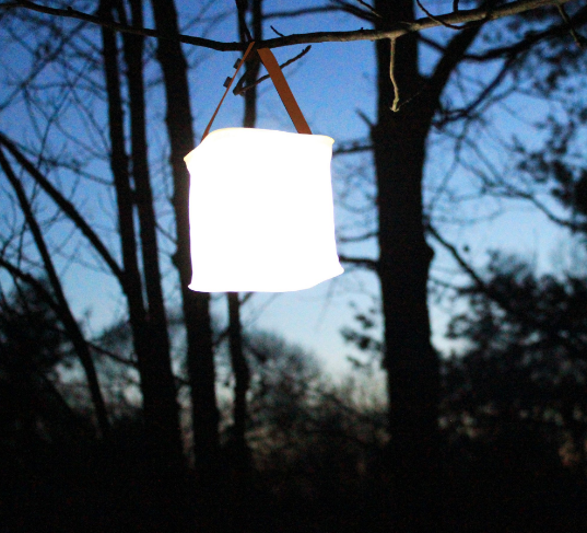 SolarAide - Inflatable Solar Powered Lamp - DealsMart Online