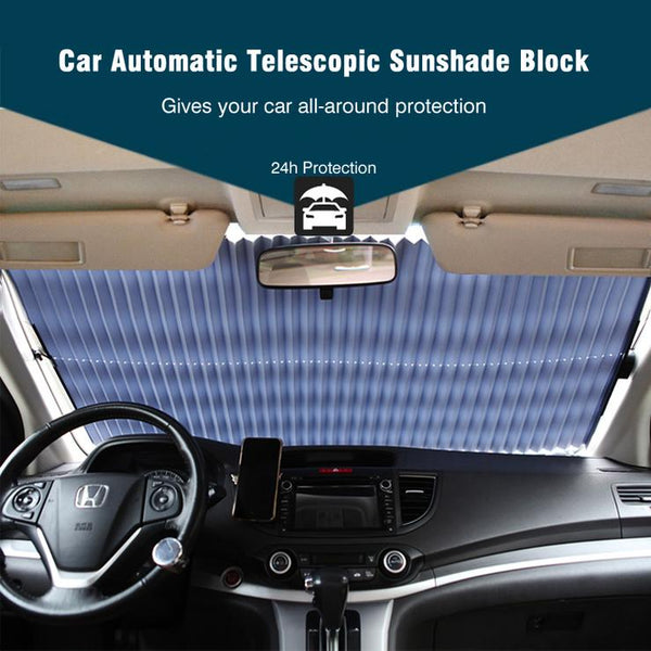 HeatGuard - Retractable Windshield Sun Shade - DealsMart Online