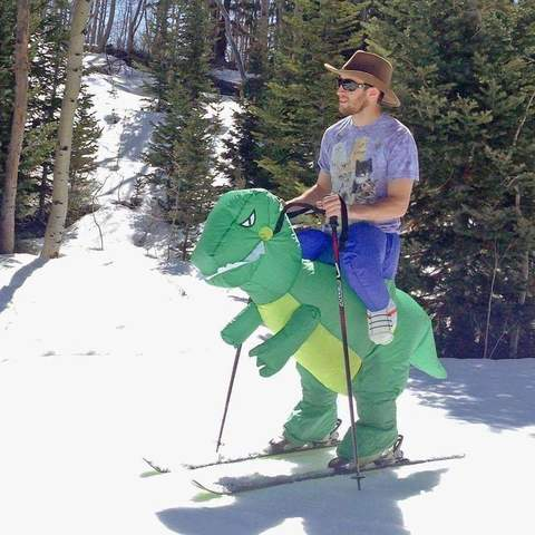 BubblyDino - Inflatable Dino Rider Costume for Kids and Adults - DealsMart Online