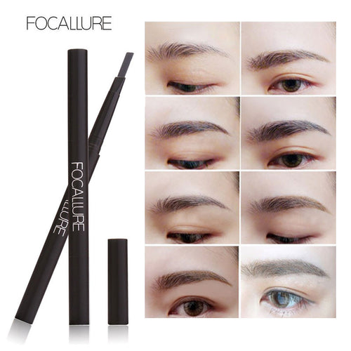 New Waterproof 3 Colors Eye Brow Eyeliner Eyebrow Pen Pencil with Brush Makeup Cosmetics Tools