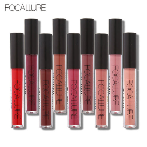 Waterproof Long-lasting Lip Gloss Pigment Dark Purple Black Red Velvet Matte Liquid Lipstick Lot Makeup