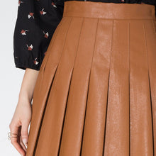 Preppy Style Solid Pleated Skirts