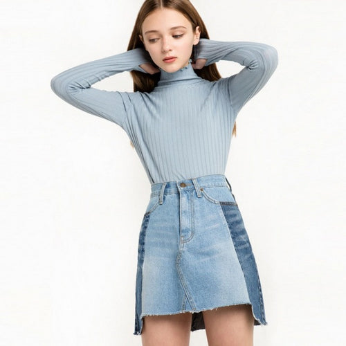 Brief Knitted Long Sleeve Sweater