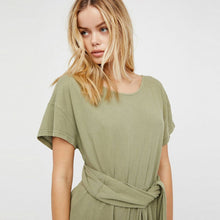 Casual Solid White/Green Hollow Out Romper