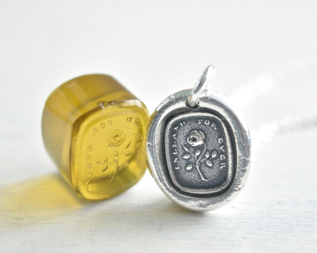 England for ever wax seal necklace
