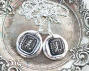witch wax seal necklaces
