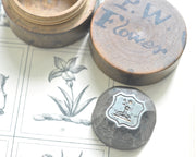 Flowers family antique wax seal