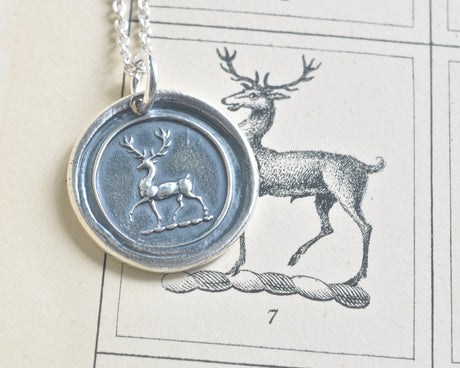 stag wax seal necklace