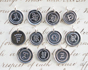 personalized letter wax seal necklace