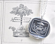 oak tree wax seal necklace