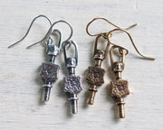 watch key earrings