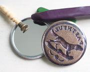 faithful dog wax seal pocket mirror