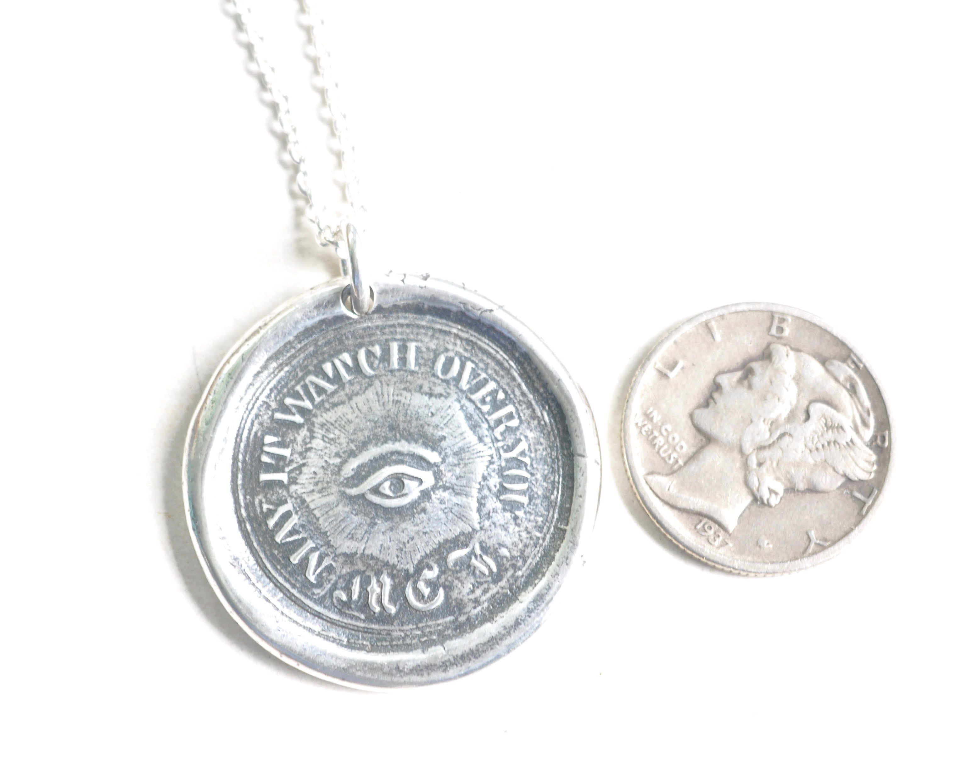 All seeing eye wax seal necklace may it watch over you masonic eye wax seal necklace all seeing mozeypictures Images