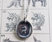 unicorn wax seal pendant