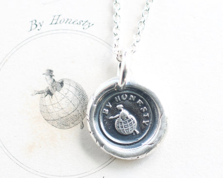 by honesty wax seal necklace