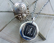 witch wax seal necklace