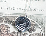 lion and mouse necklace
