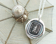 witch wax seal necklace - all have their hobbies - wax seal jewelry