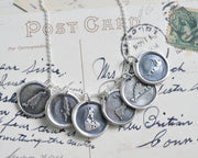 Nantucket wax seal necklace