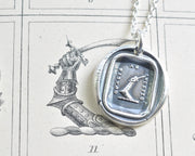 armored arm wax seal necklace