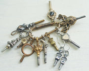victorian hand watch key earrings