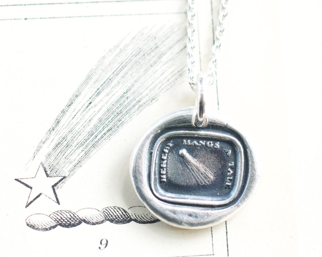comet wax seal necklace