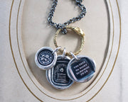 mourning wax seal jewelry